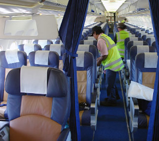 Beautiful Aircraft Cleaning Services